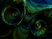 Green Abstract Digital Art - Ovaries by Lauren Goia