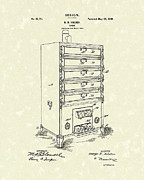 Antique Drawings - Oven Design 1900 Patent Art by Prior Art Design