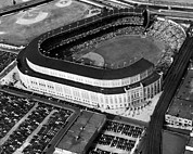Brooklyn Dodgers Stadium Prints - Over 70,000 Fans Jam Yankee Stadium Print by Everett