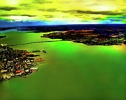 Arial View Photos - Over Charlottetown  by Larry Simanzik