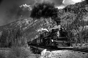 Steam And More Photography Framed Prints - Over the Animas River Black and White Framed Print by Ken Smith