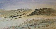 Sand Dunes Paintings - Over the dunes by Vandy Massey