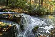 Creeks Prints - Over The Edge Print by Debra and Dave Vanderlaan