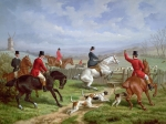 Fox Hunting Prints - Over the Fence Print by Edward Benjamin Herberte