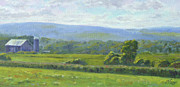 Serene Landscape Painting Originals - Over The Hills by Michael Camp