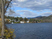 Lake Placid Ny Photo Posters - Over the Lake Poster by Maggy Marsh