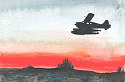 Plane Paintings - Over the North by R Kyllo