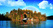 River Posters Prints - Over The Rainbow Print by Mark Ashkenazi