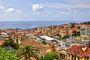 Holiday Destination Prints - Over the roofs of Sanremo Print by Joana Kruse