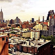 Skyline Framed Prints - Over the Rooftops of New York City Framed Print by Vivienne Gucwa