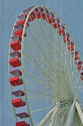 Amusement Ride Posters - Over The Top Poster by Odd Jeppesen