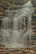 Pa State Parks Photos - Overcast Waterfall by Adam Jewell