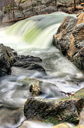 Great Falls Framed Prints - Overflowing  Framed Print by JC Findley