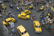 Kolkata Photos - Overhead Of Intersection Near Chowinghee Road by Tom Cockrem