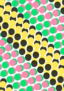 Circle Abstracts Posters - Overlayed Dots Poster by Louisa Knight