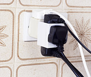 Electrical Plug Prints - Overloaded Plug Socket Print by Andrew Lambert Photography