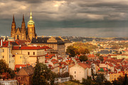 Prague Digital Art Originals - Overlook Prague by John Galbo