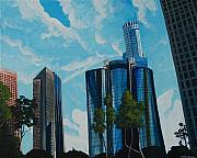 Down Town Los Angeles Framed Prints - Overlooked  Framed Print by Keith Higgins