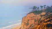 Blacks Digital Art Framed Prints - Overlooking Blacks Beach La Jolla Framed Print by Russ Harris