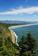 Seascape Art Photos - Overlooking Nehalem Bay by Greg Vaughn - Printscapes