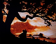 With Painting Posters - Overlooking Tara at Sunset Poster by Al  Molina