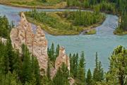 Alberta Landscape Photos - Overlooking the Bow by Robert Pilkington