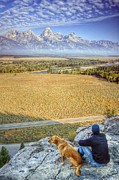 Grand Tetons Prints - Overlooking the Grand Tetons Jackson Hole Print by Dustin K Ryan
