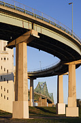 Supports Framed Prints - Overpass Framed Print by Jeremy Woodhouse