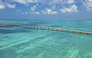 Florida Bridge Photo Posters - Overseas Highway Poster by Patrick M Lynch