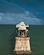 Florida Bridge Photo Posters - Overseas Railroad Poster by Scott Meyer