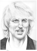 Famous People Drawings - Owen Wilson by Murphy Elliott