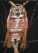 Raffia Sculptures - Owl by Beth Lane Williams