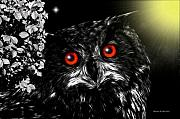 Aves Digital Art - Owl by Madeline  Allen - SmudgeArt