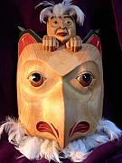 Featured Reliefs - Owl Mask with Human Spirit by Shane  Tweten