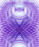 Believe Digital Art - Owl Medicine Fractal by Miabella Mojica