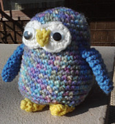 Stuffed Animal Toys Tapestries - Textiles - Owl by Sarah Biondo