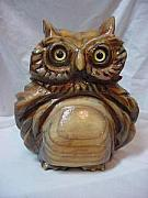 Owl Sculptures - Owl-SOLD by Lisa Ruggiero