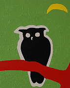 Forest Dweller Posters - Owl Tree Two Poster by Donald Amorosa