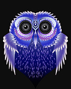 Owl Digital Art Posters - Owl Vector Poster by Julie L Hoddinott