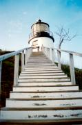 Lighthouse Photo Posters - Owls Head Light Poster by Greg Fortier