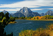 Fall Photographs Framed Prints - Oxbow Bend In Autumn borderless Framed Print by Greg Norrell