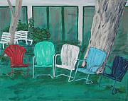 Benches Paintings - OxBow Summer by Kevin Callahan