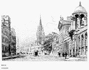 Street Drawings - OXFORD - HIGH STREET c1880 by Granger