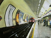 Transport Paintings - Oxford Circus Station by Paul Mitchell