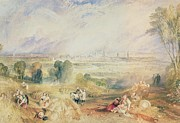 Rural Life Paintings - Oxford from North Hinksey by Joseph Mallord William Turner