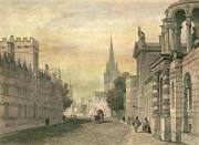 Village Scenes Prints - Oxford Print by G Hollis