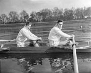 Two Men Rowing Posters - Oxford Training Poster by L Blandford & Monty Fresco Jnr