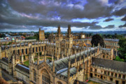 Yhun Suarez Prints - Oxford University - All Souls College Print by Yhun Suarez