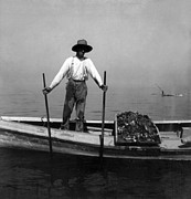 Oyster Art - Oyster Fishing on the Chesapeake Bay - Maryland - c 1905 by International  Images