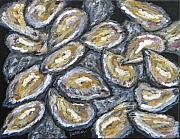Oysters Painting Prints - Oyster Stack Print by JoAnn Wheeler